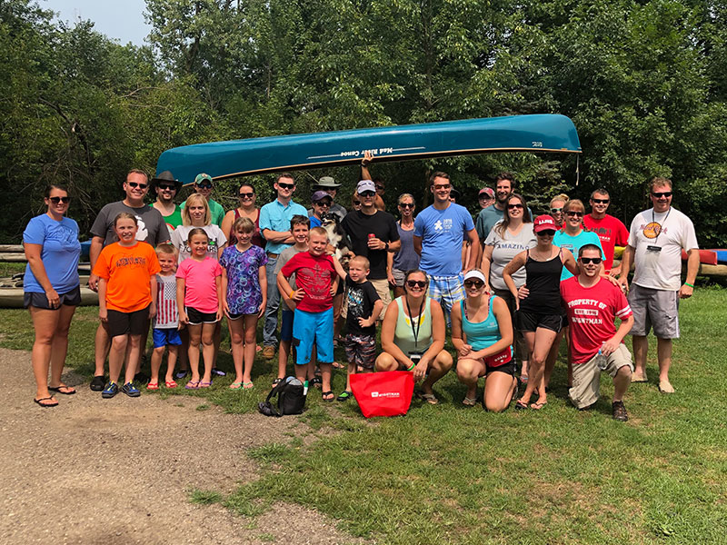 Wightman family canoe outing