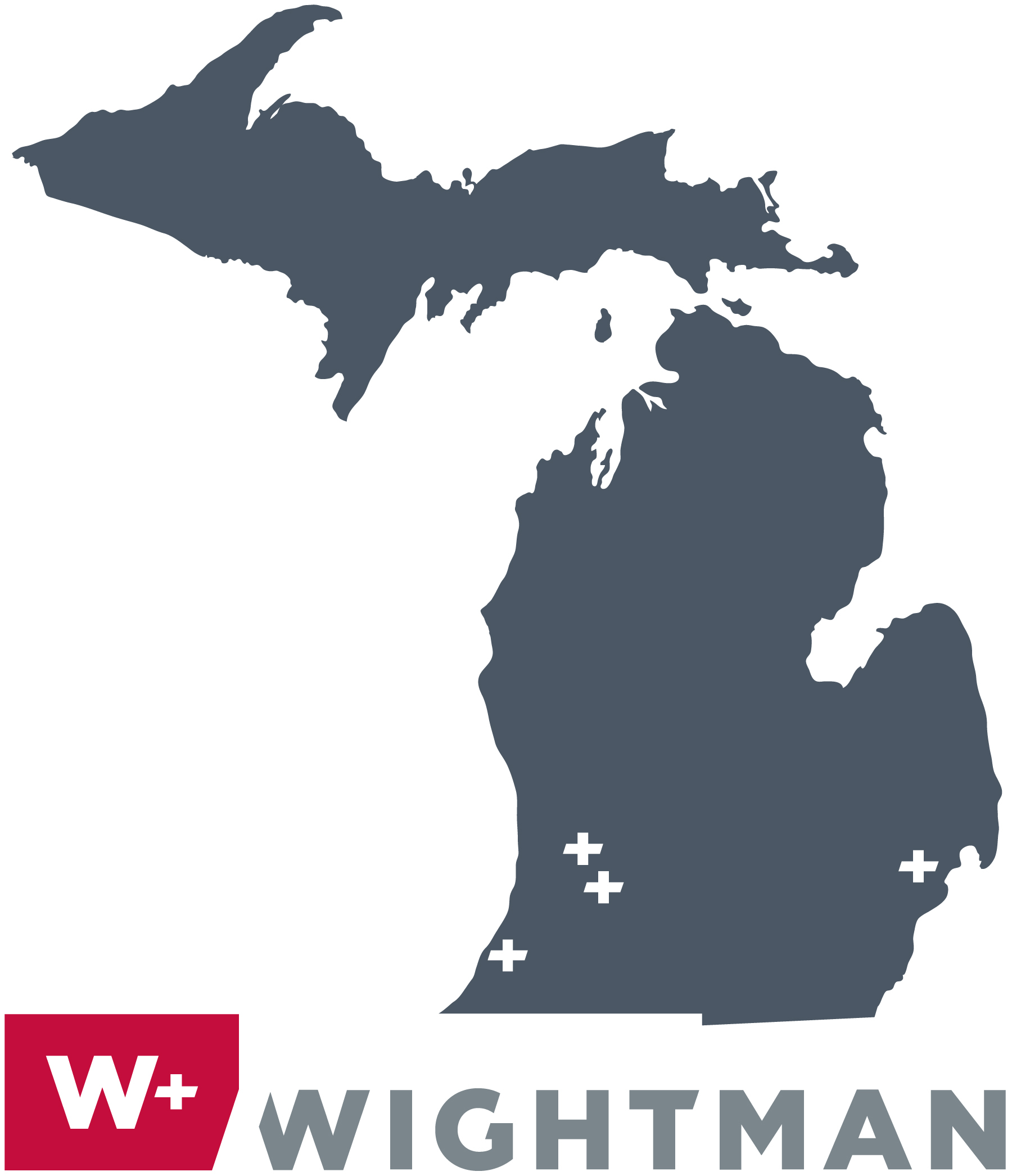 Wightman locations: Benton Harbor, Allegan, Kalamazoo