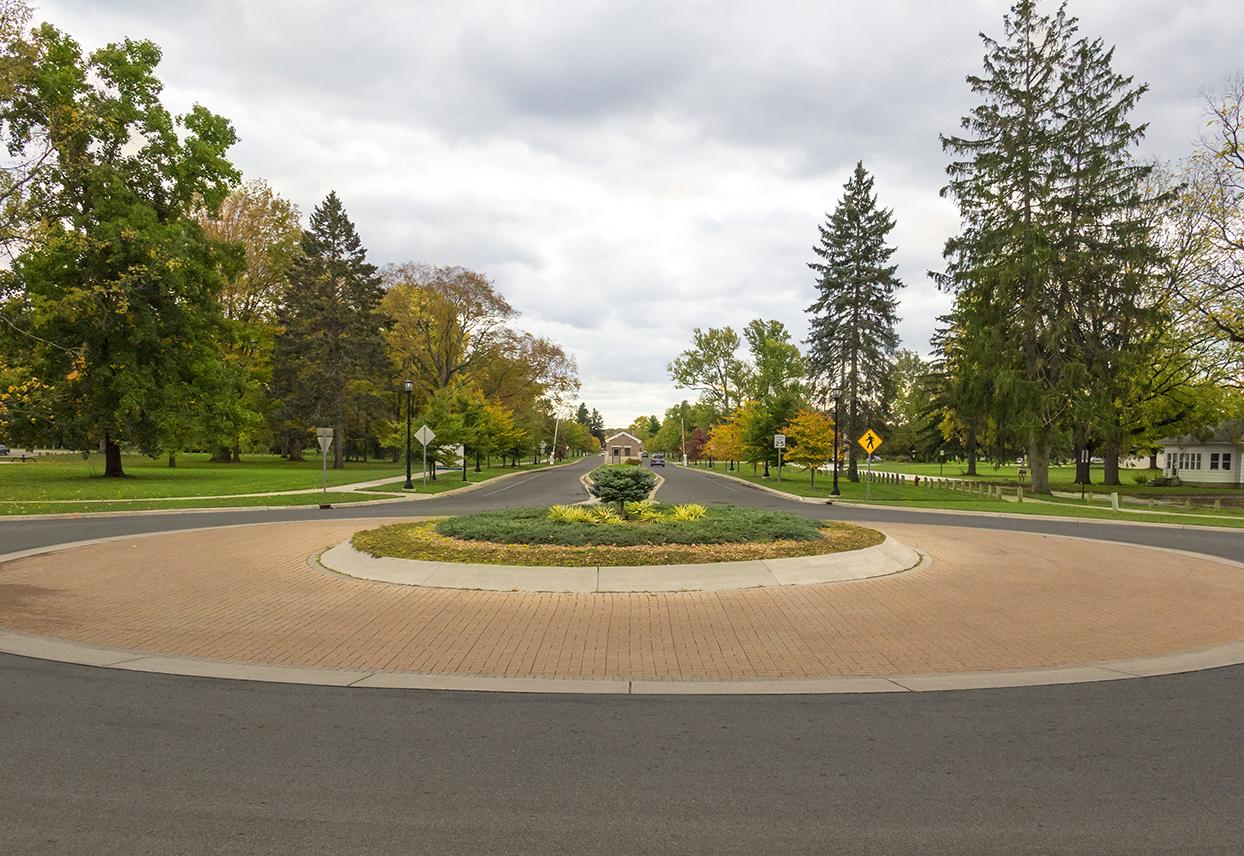 Andrews University Campus roundabout