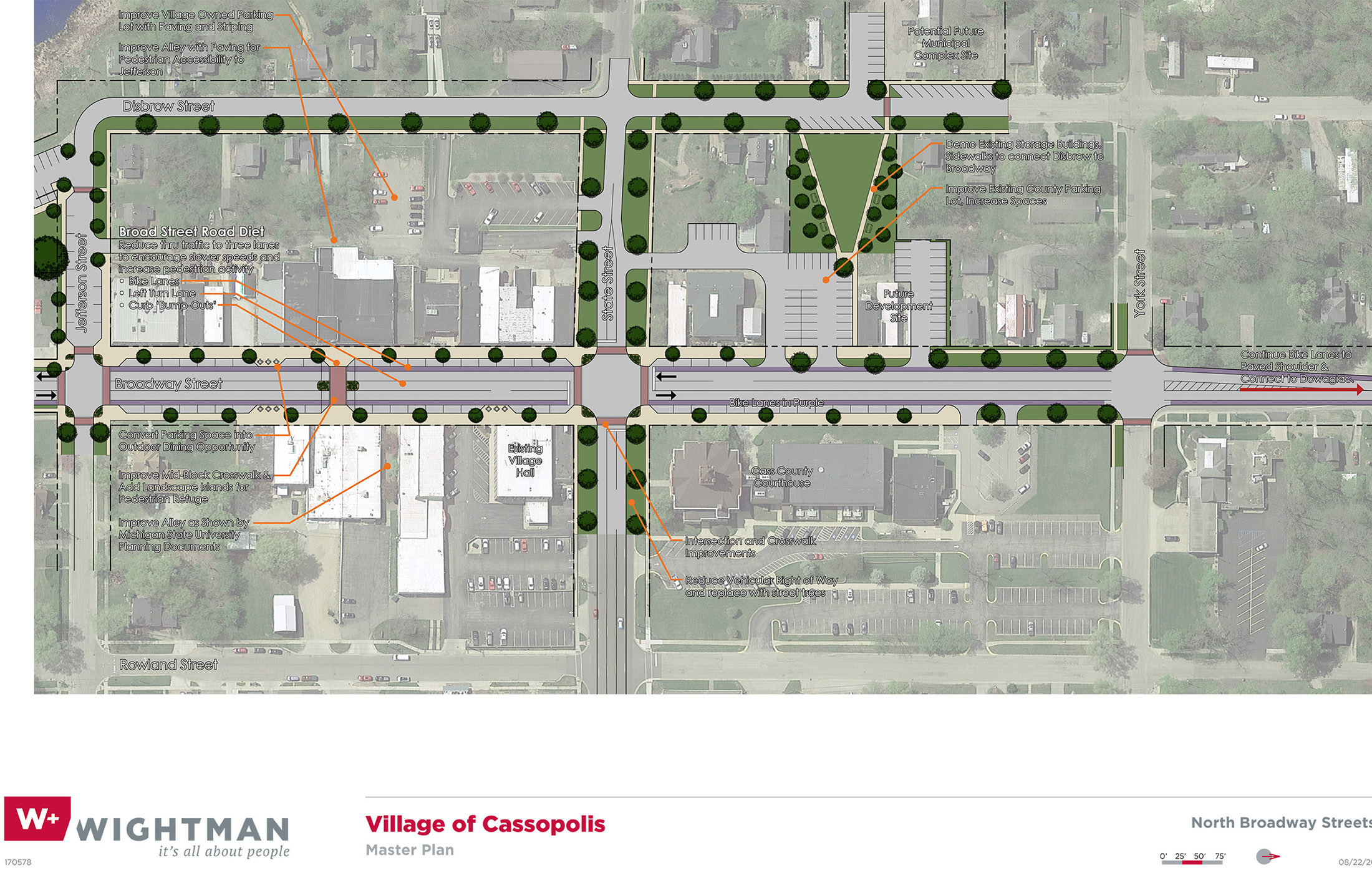 Cassopolis North Broadway Streetscape Rendering