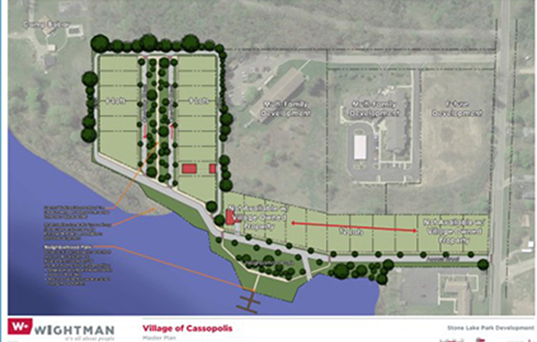 Cassopolis Stone Lake neighborhood site plan