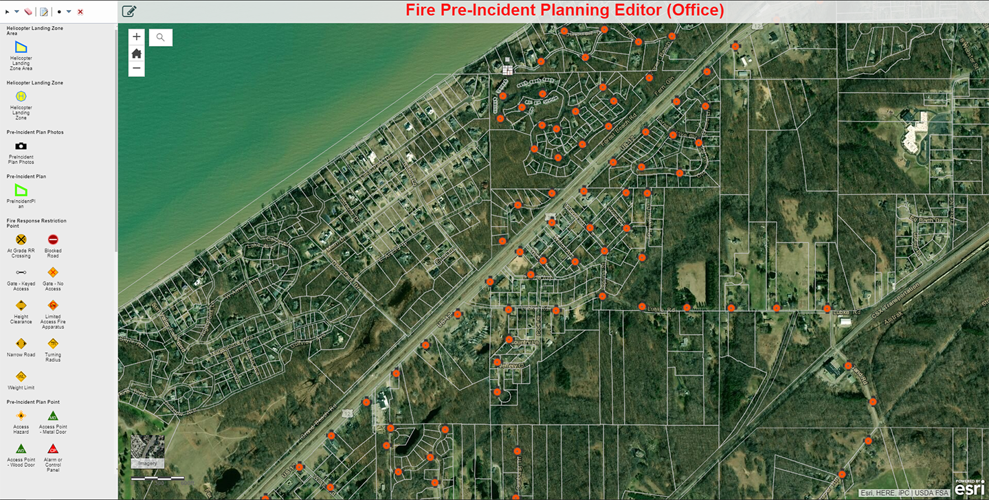 Fire Department Incidence Locator map