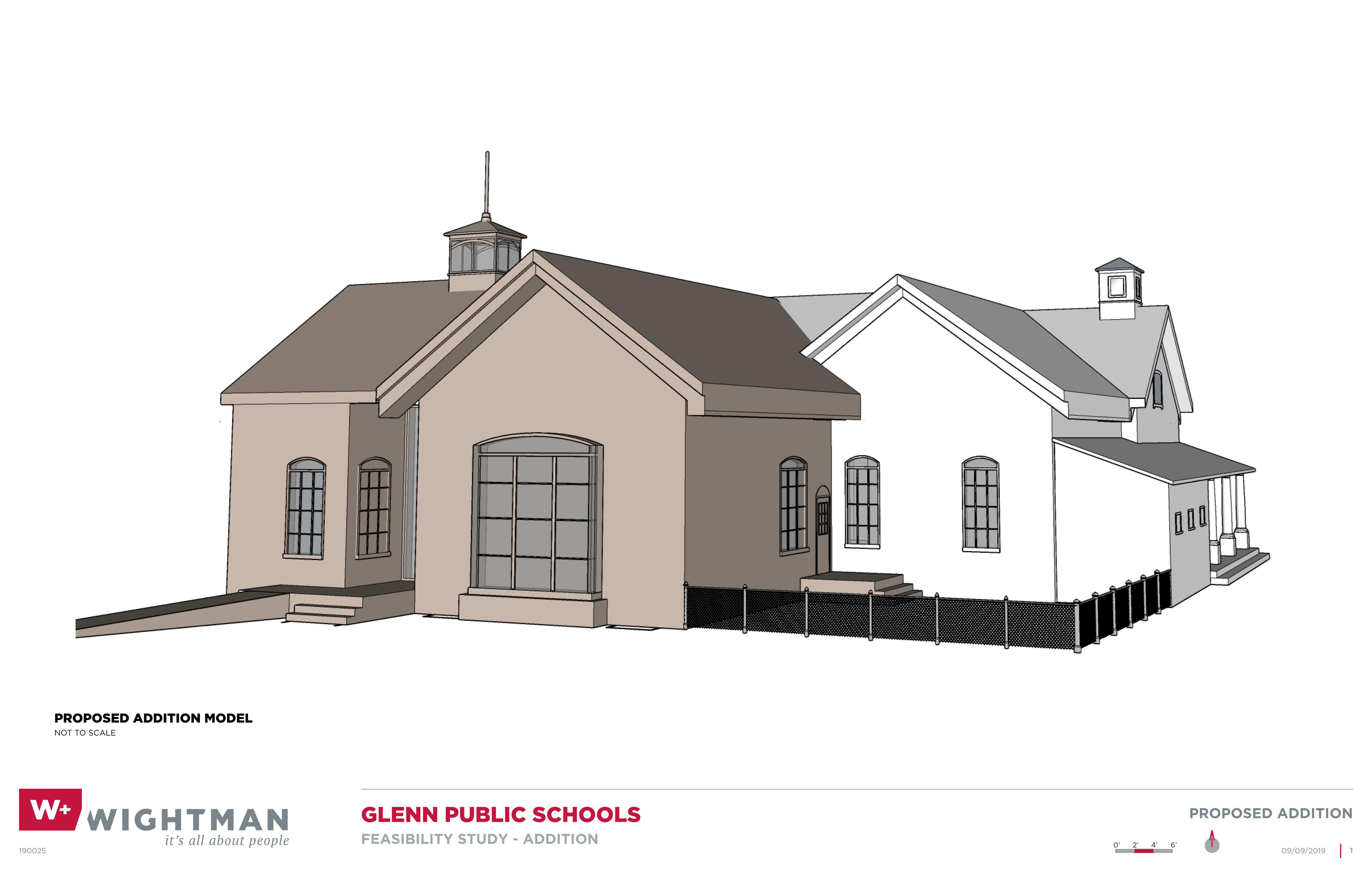 Glenn Public Schools Addition Rendering