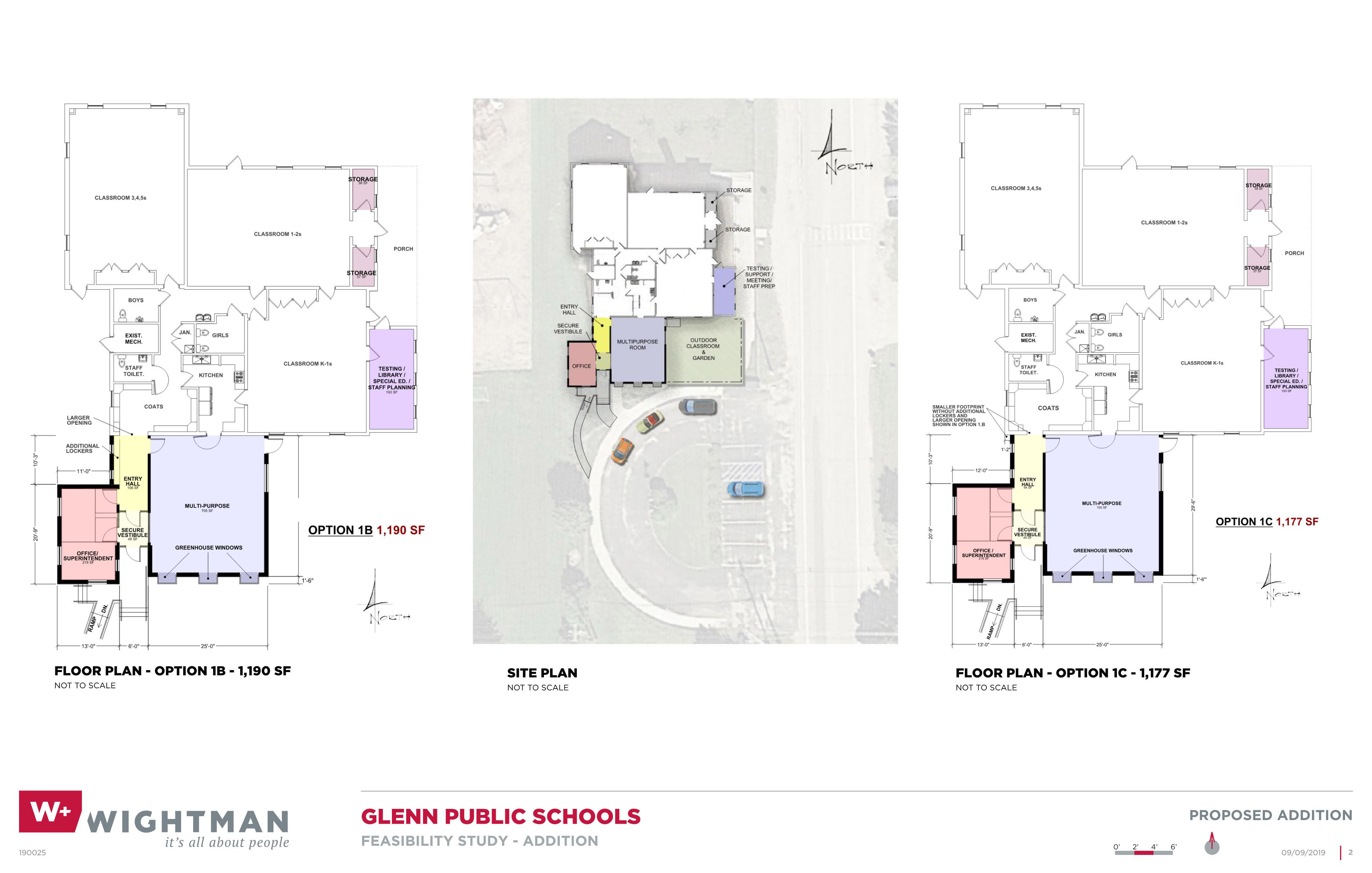 Glenn Public Schools Site and Floor Plan Rendering