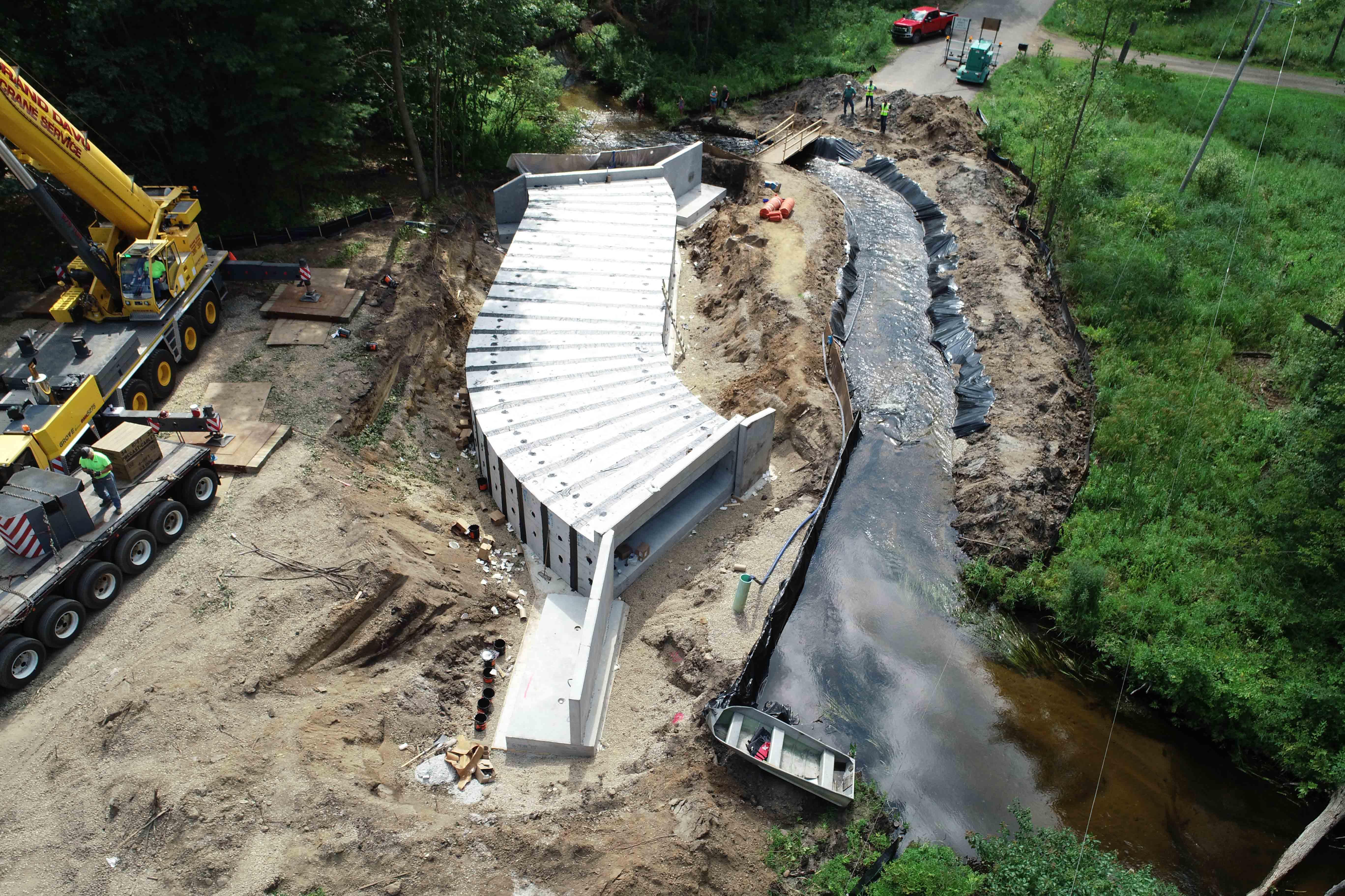 Halbert Road Culvert Construction Site