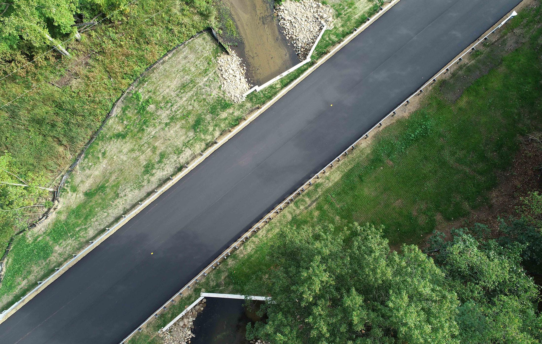 Halbert Road Culvert New Roadway
