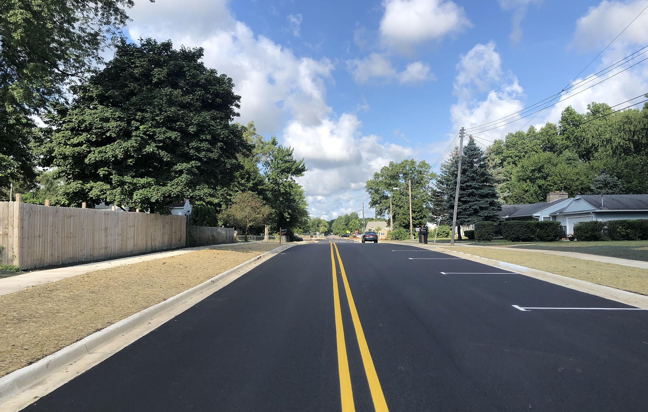 Idaho Avenue Completed Roadway