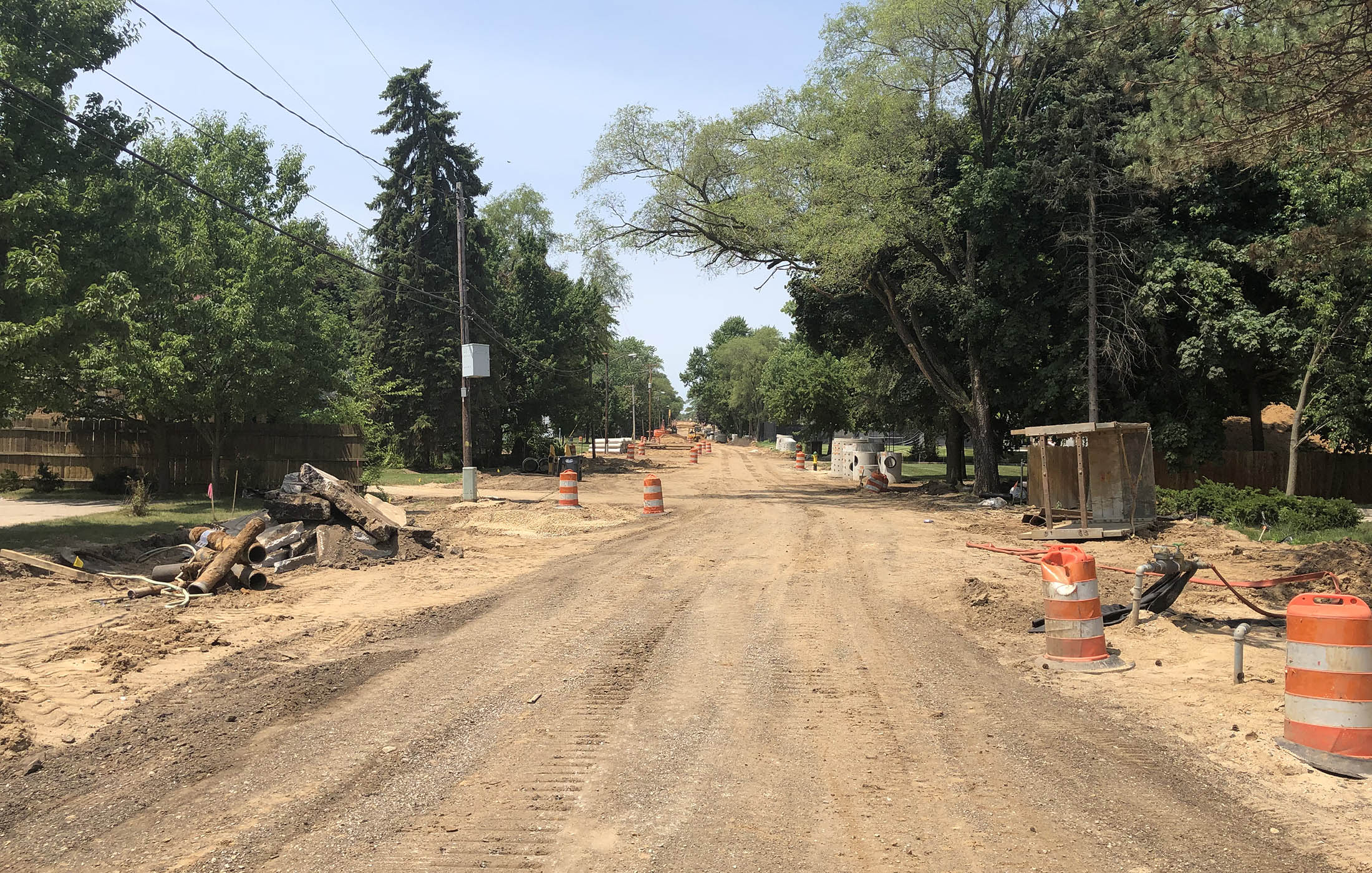 Idaho Avenue During Construction Looking West