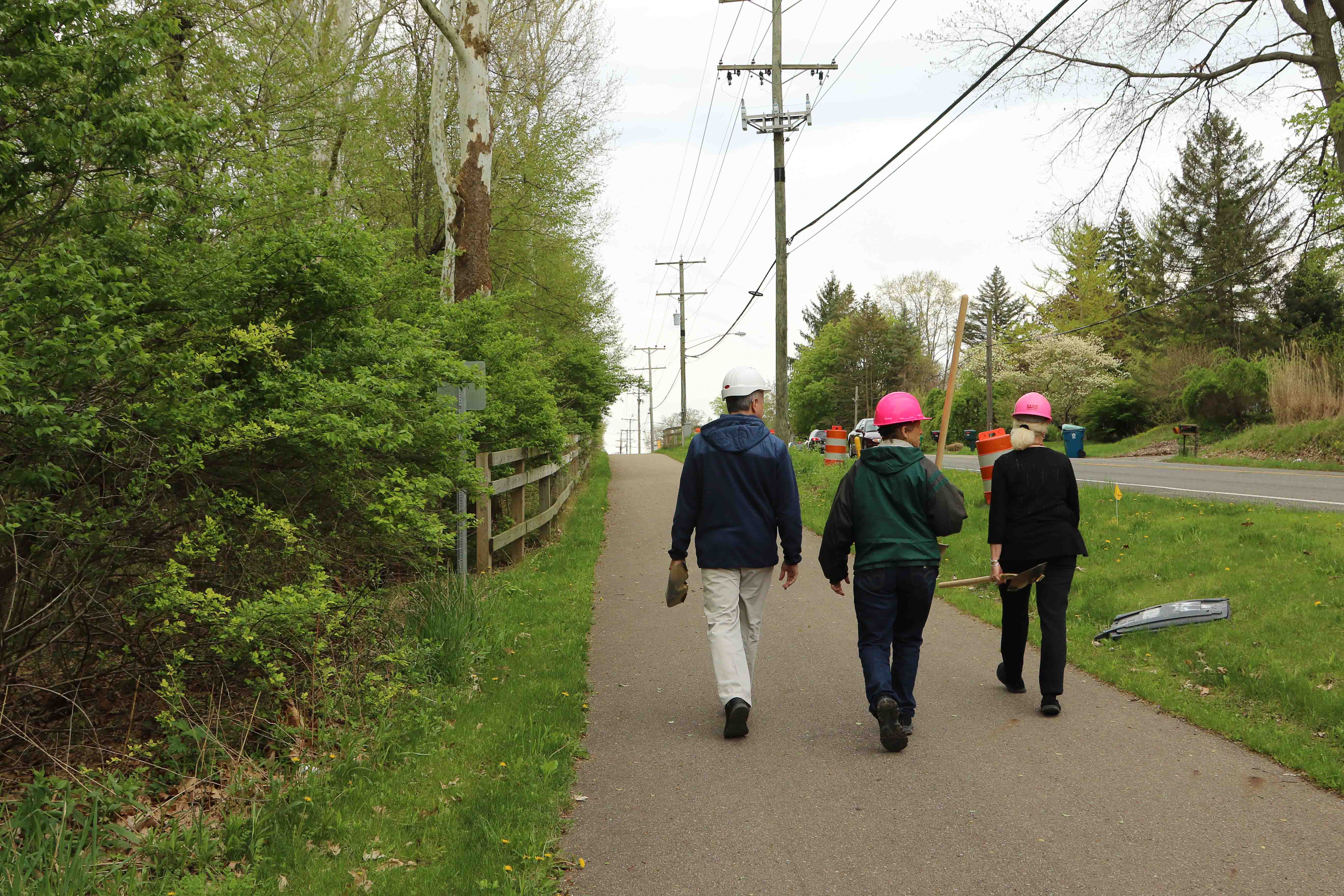 Indiana Michigan Trail Township Officials in Hardhats
