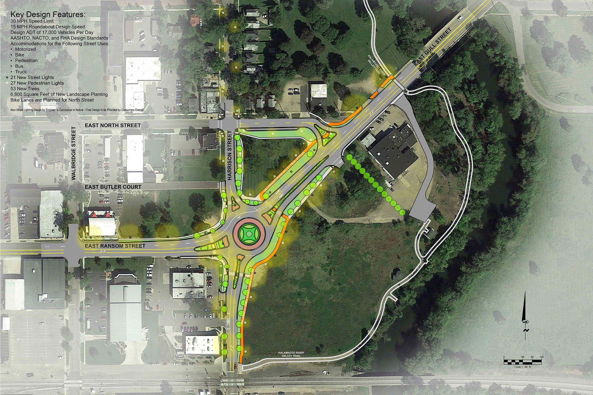 Kalamazoo Roundabout plan rendering