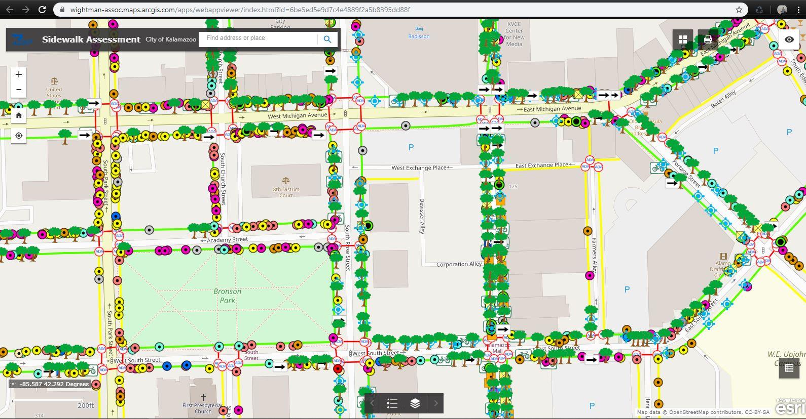 Kalamazoo Sidewalk Assessment GIS Deliverable