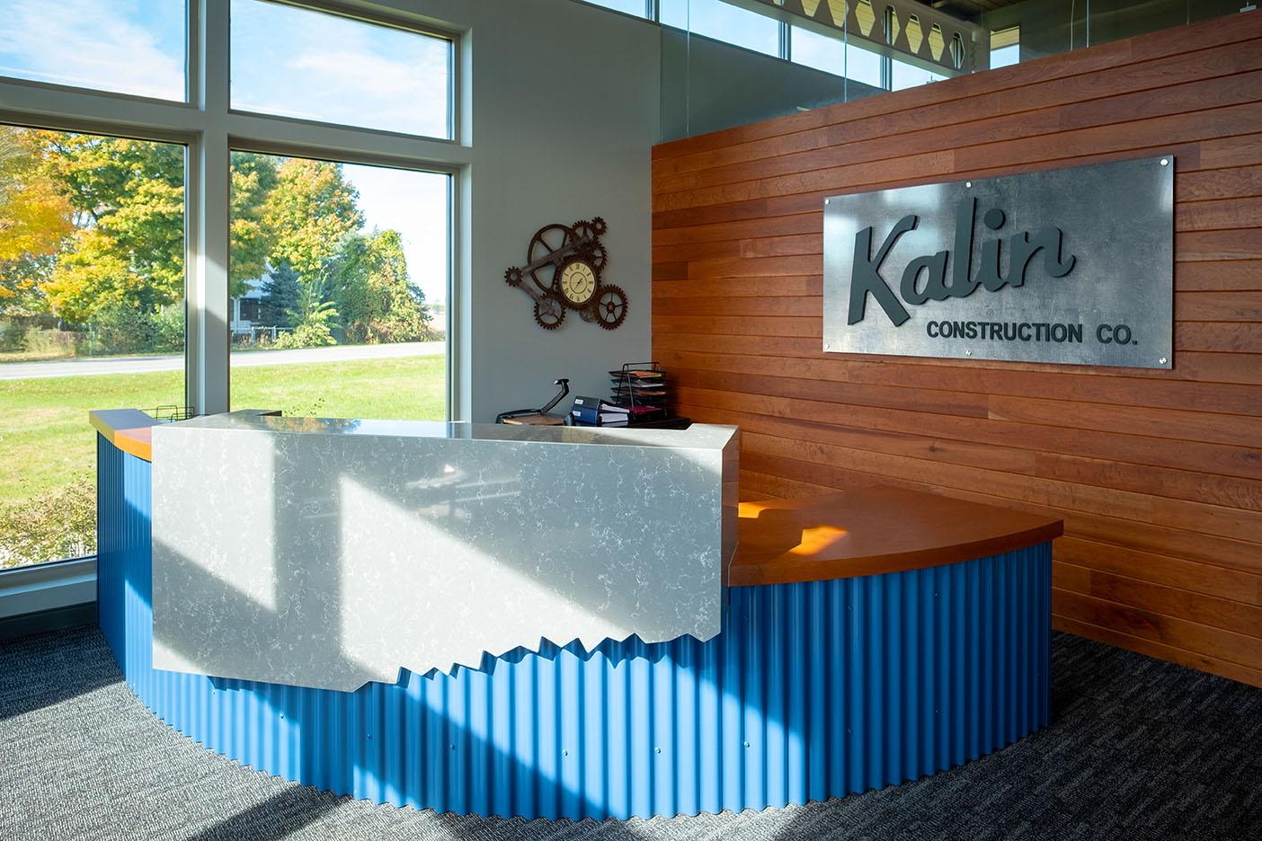 Kalin Construction Reception Area