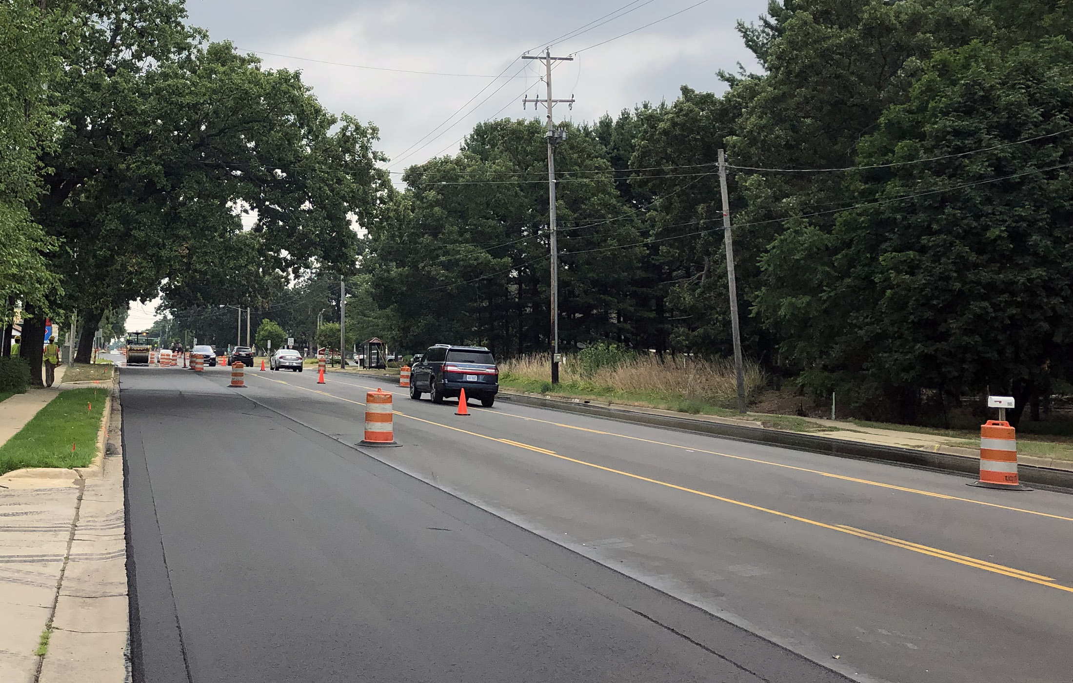 Milham Ave After Construction Paving