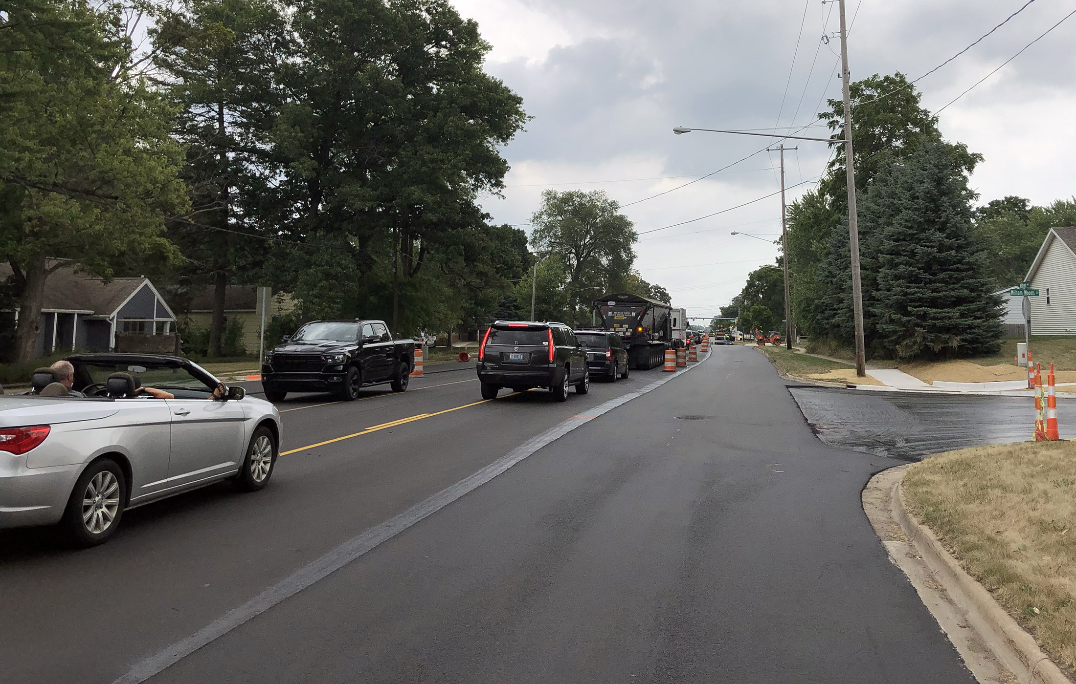 Milham Ave Paving Eastbound at Oakland