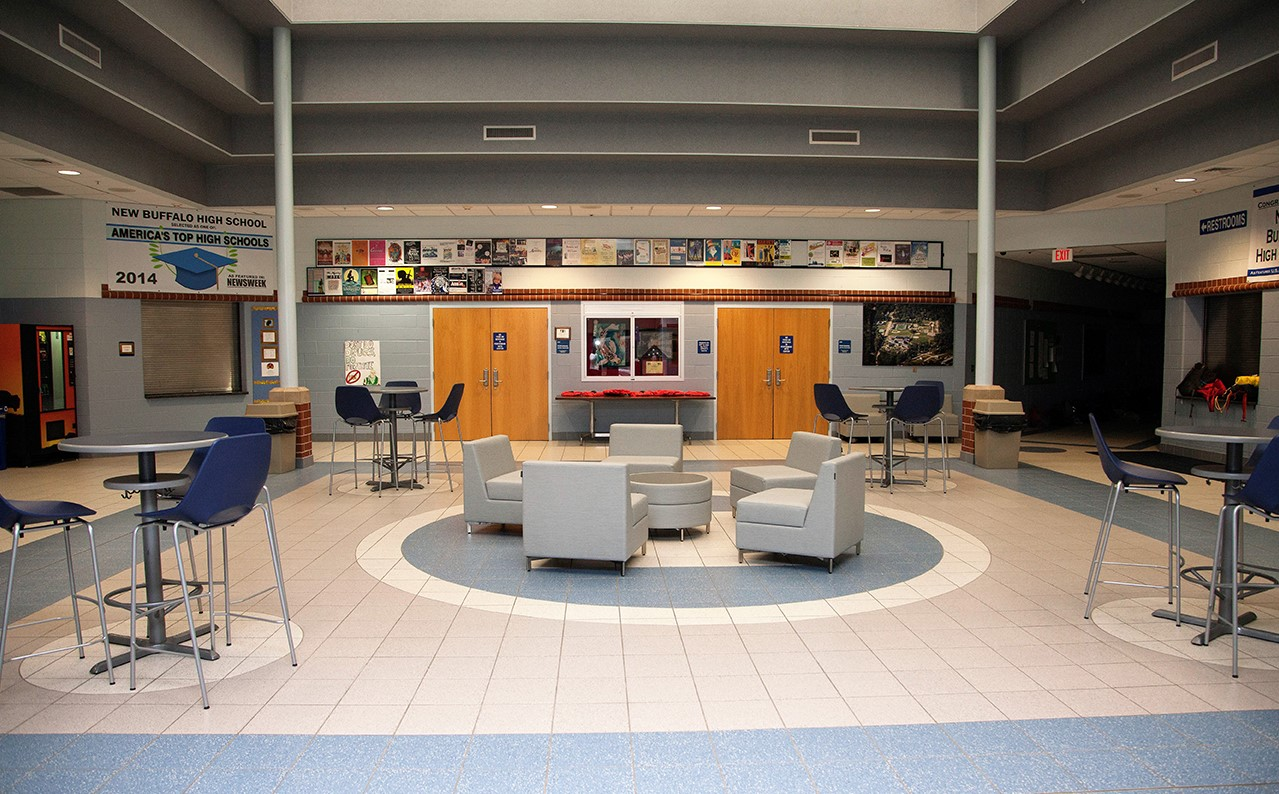 New Buffalo Schools loose furnishings entire room view