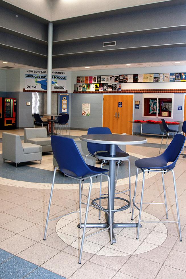 New Buffalo Schools loose furnishings bar height stools