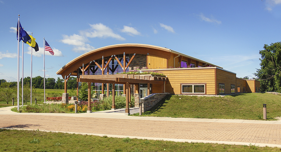 Pokagon Community Center Front Exterior Daylight View