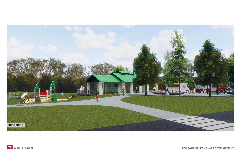 Portage Celery Flats Trailhead rendering