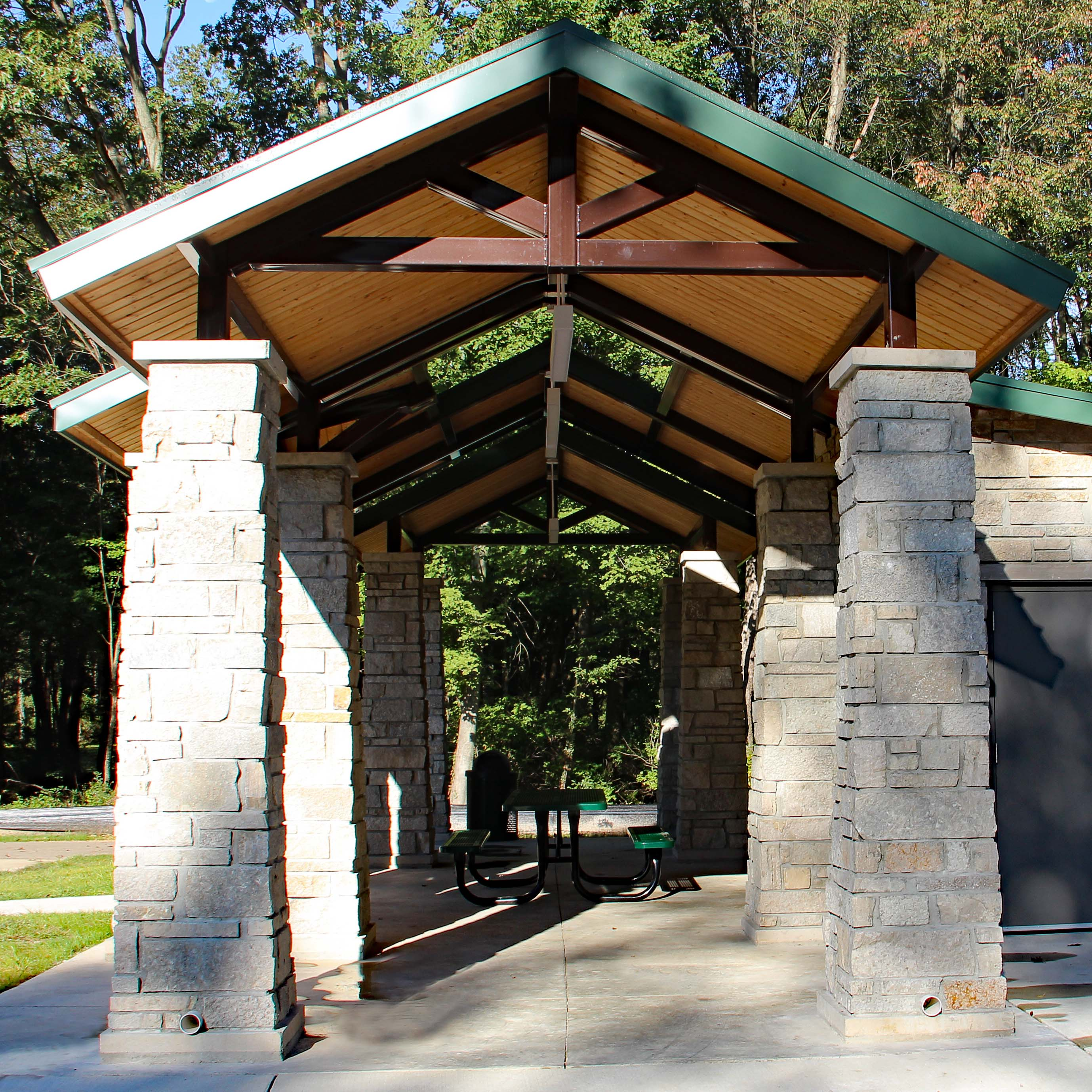 Portage Celery Flats Trailhead Square Inside Structure View