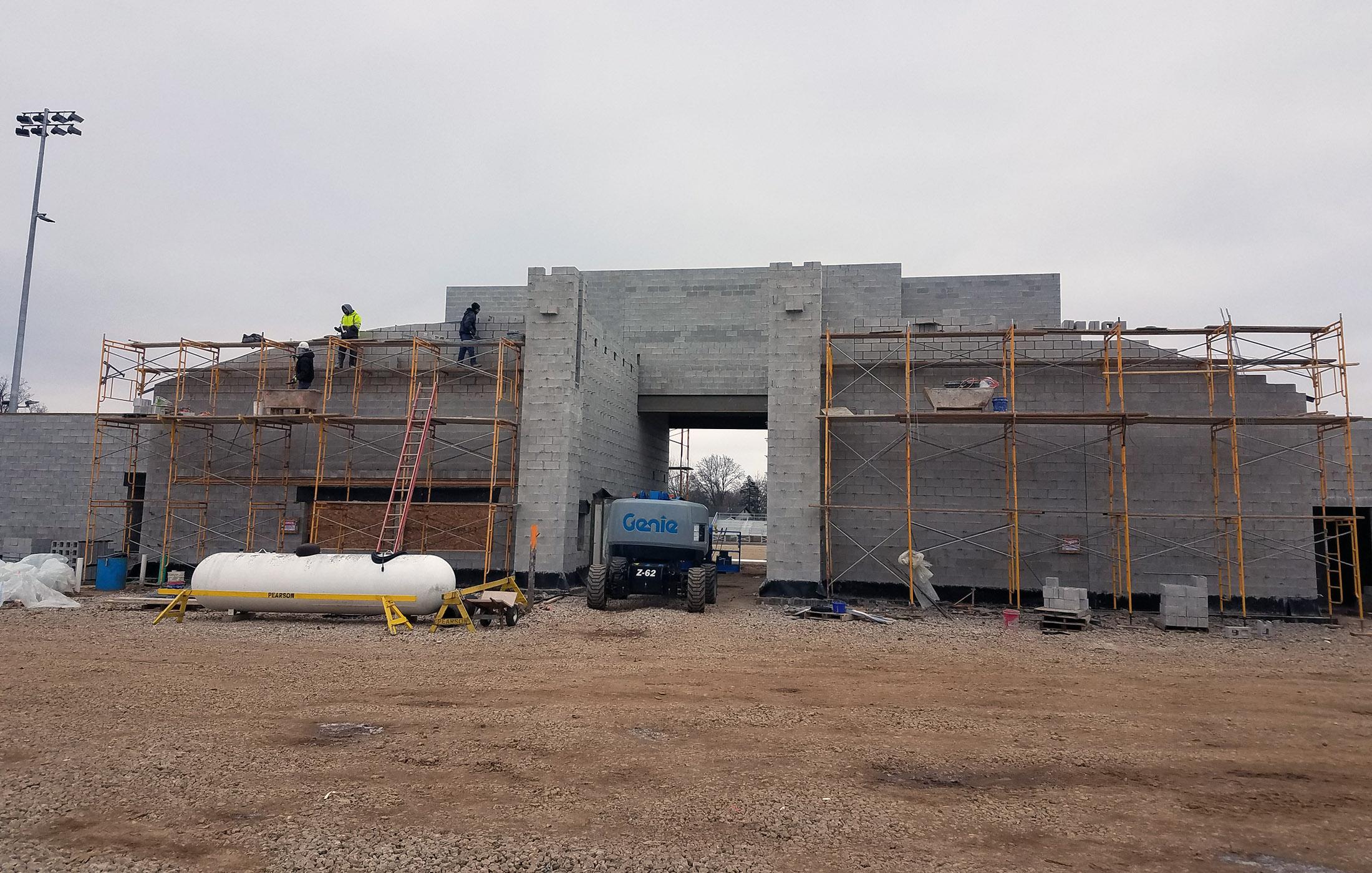 Sylvester Stadium Block Entrance Construction
