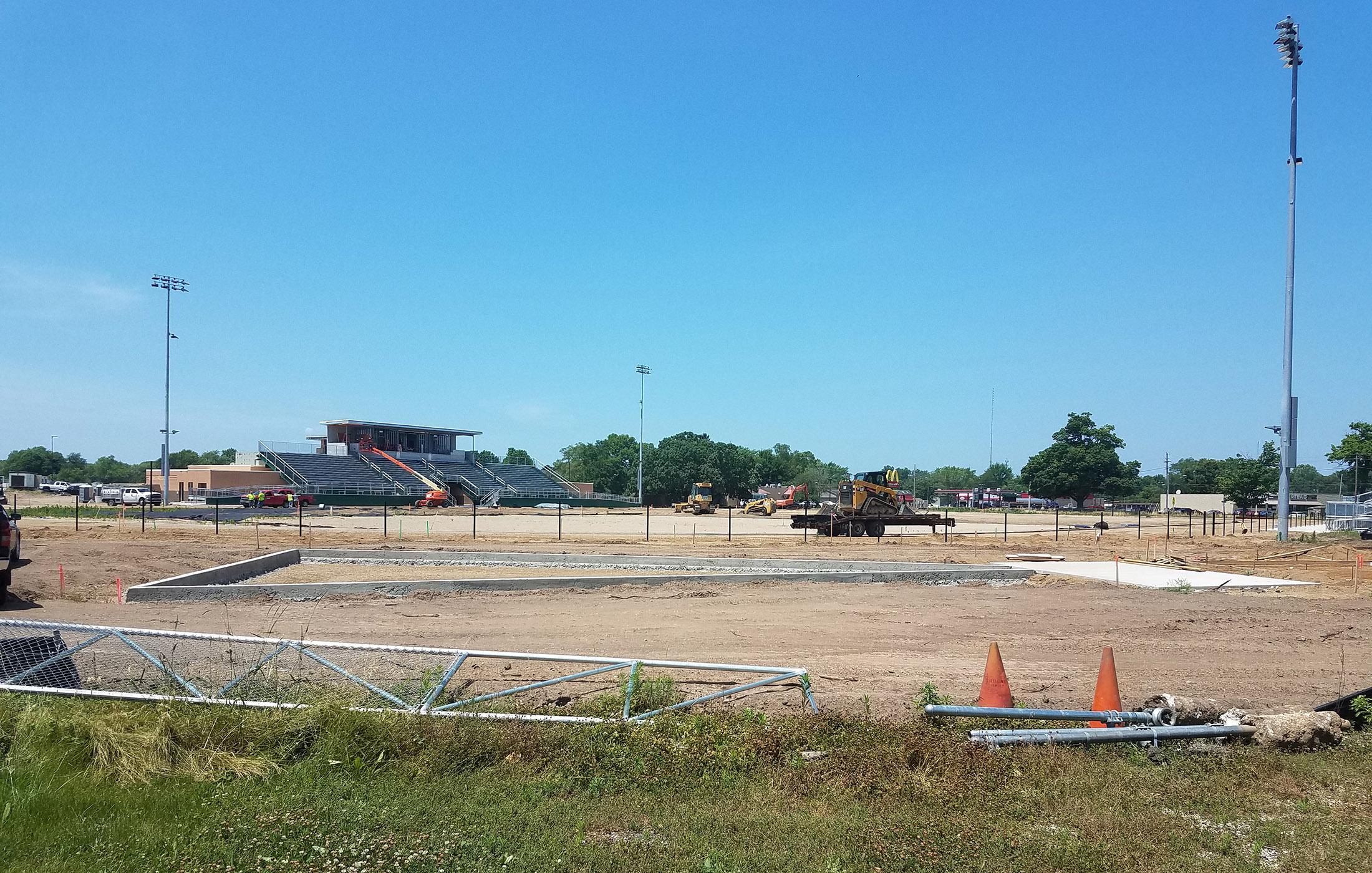 Sylvester Stadium Site Work