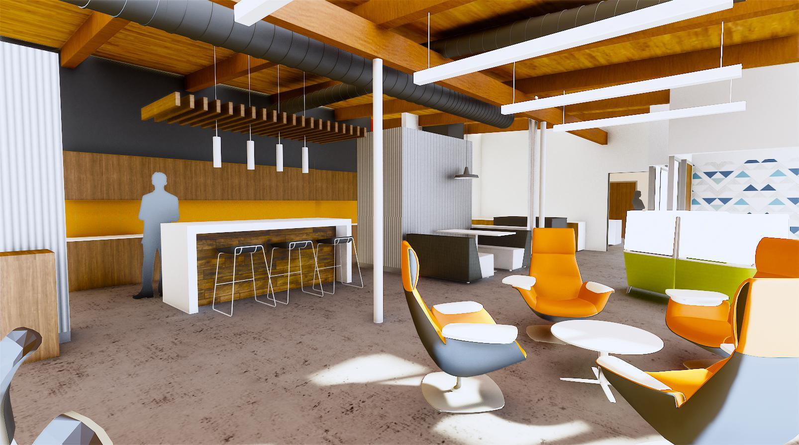 Wightman Kalamazoo break room rendering