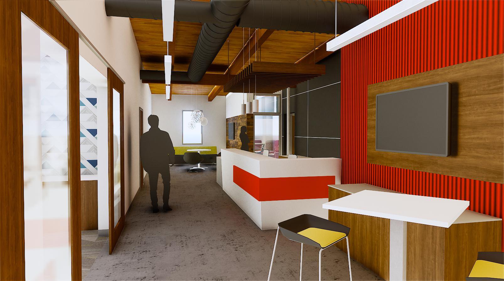 Wightman Kalamazoo reception area rendering