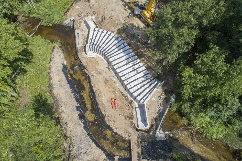 Halbert Road Culvert Aerial View
