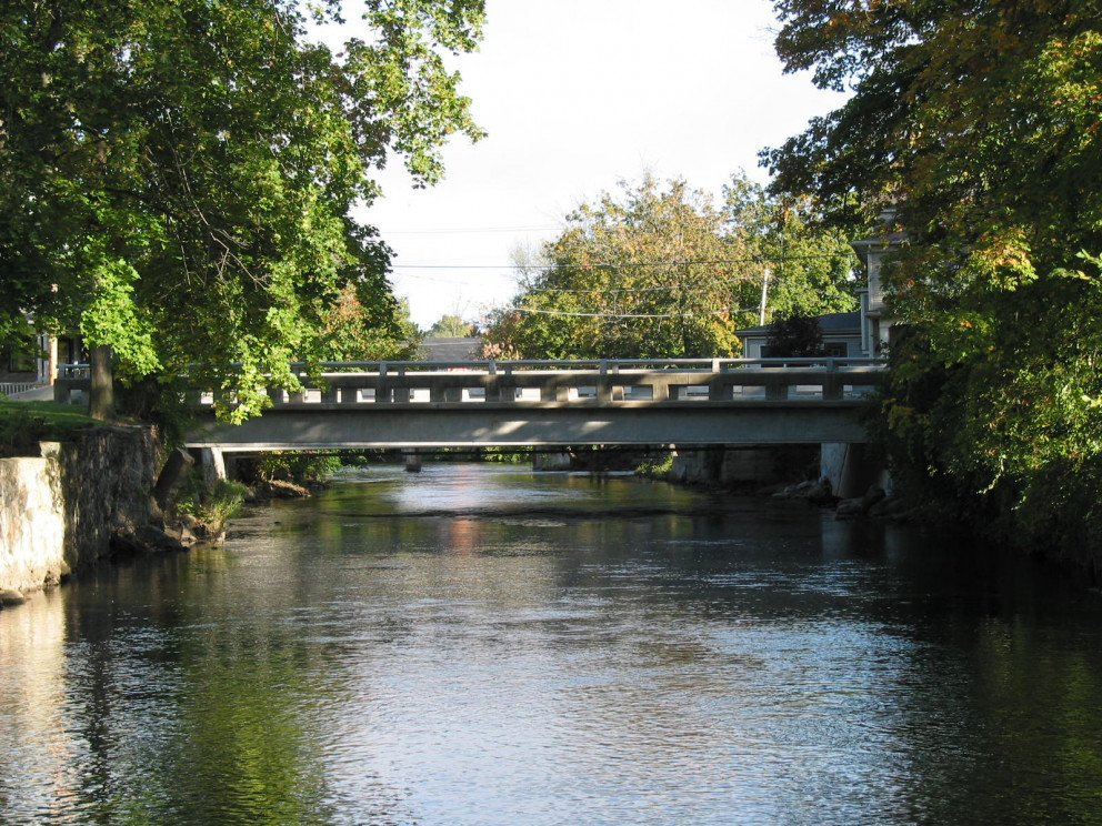 East Erie bridge over Kalamazoo River