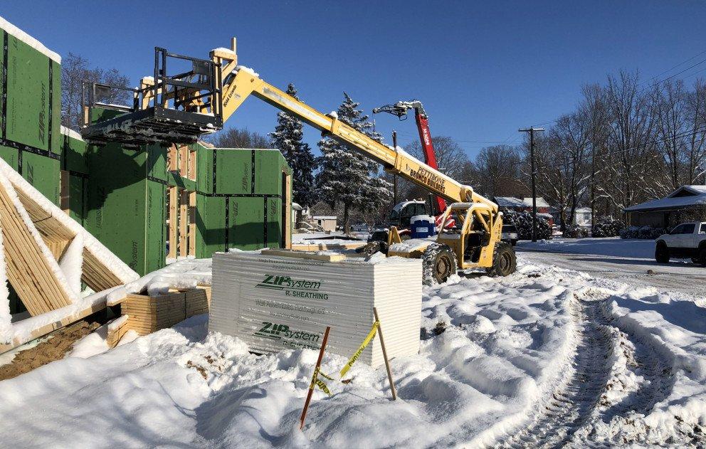 Cass Municipal Building Construction Crane