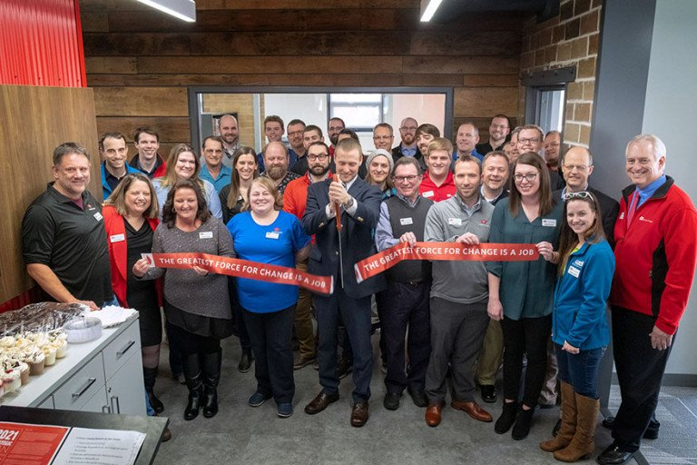 Wightman Kalamazoo ribbon cutting