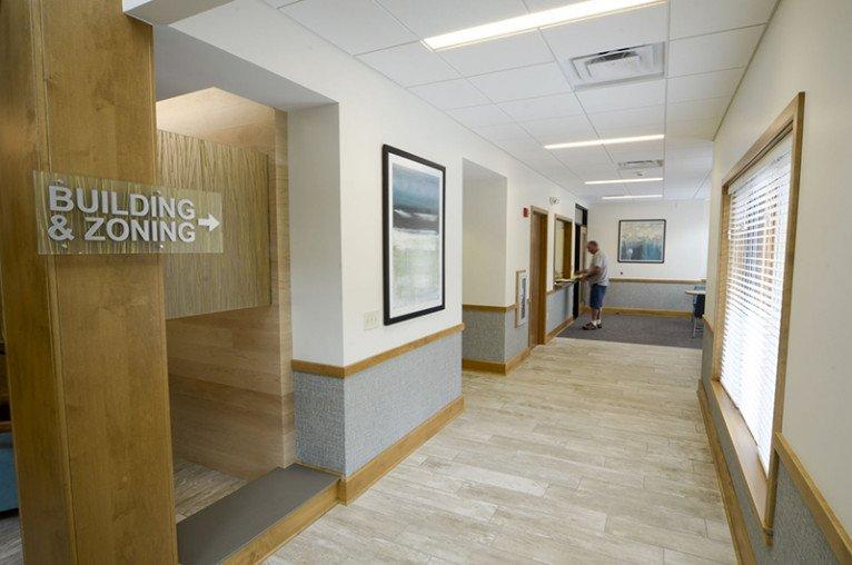 New Buffalo Township Hall interior hallway