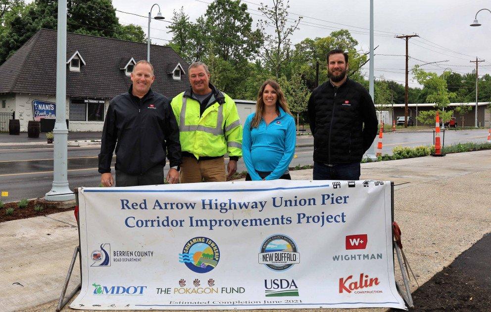 Red Arrow Highway Union Pier ribbon cutting Wightman staff