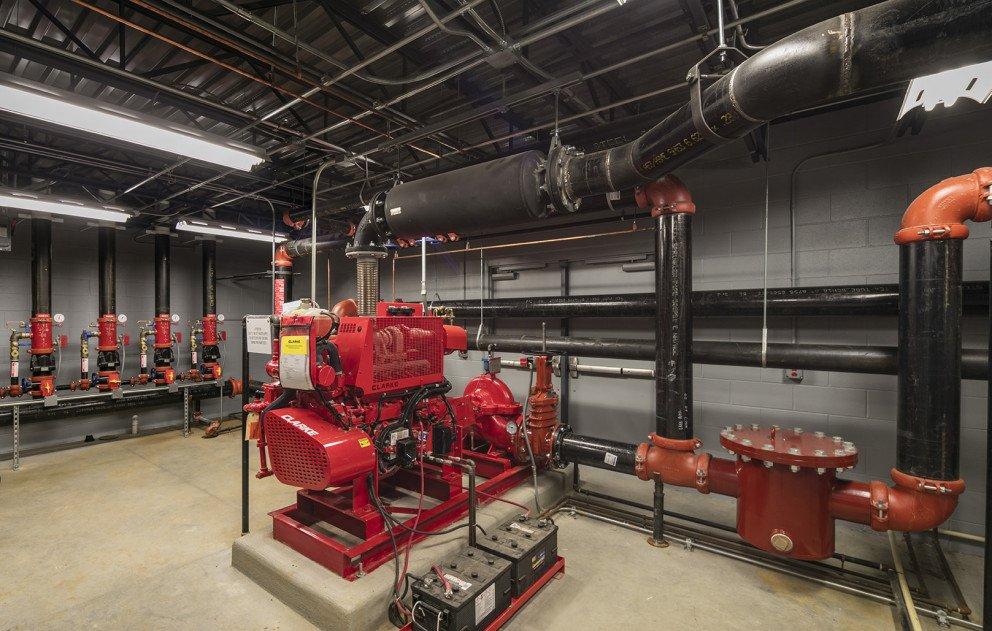 Lane Automotive mechanical room