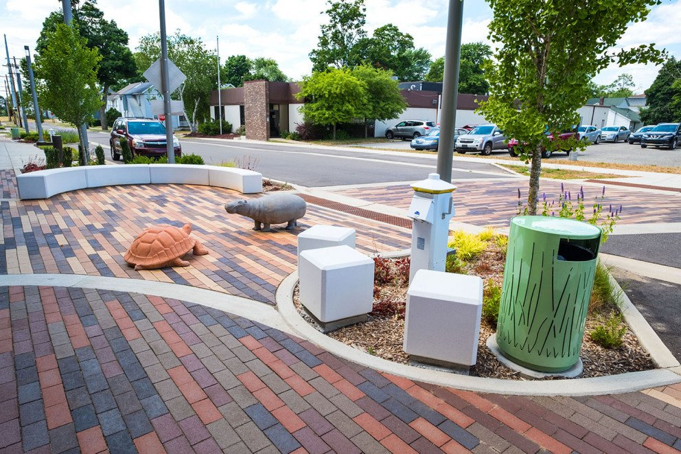 Moso Village outdoor brick patio