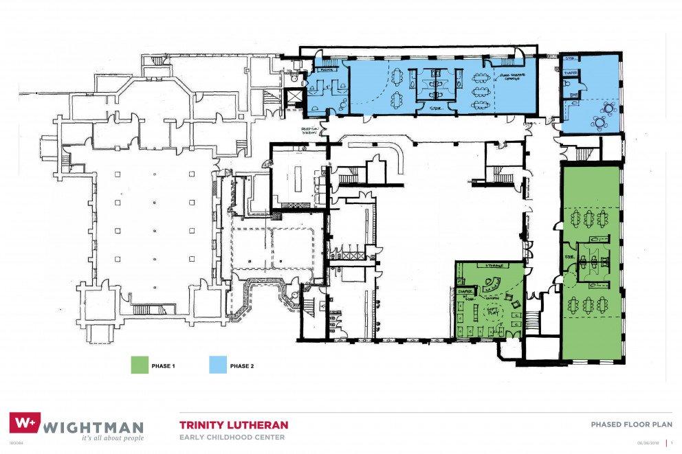 Trinity Preschool Phased Floor Plan