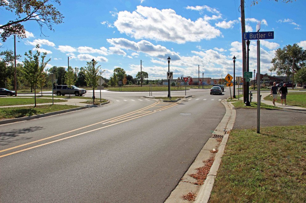 Kalamazoo Roundabout distant view