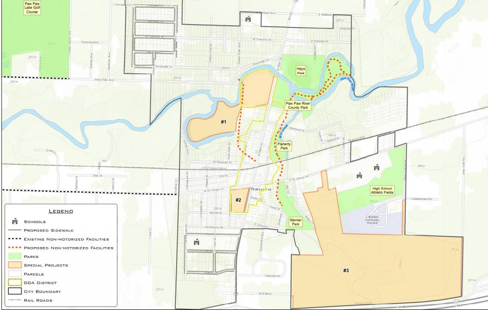 City of Watervliet Special Projects and Mobility Map