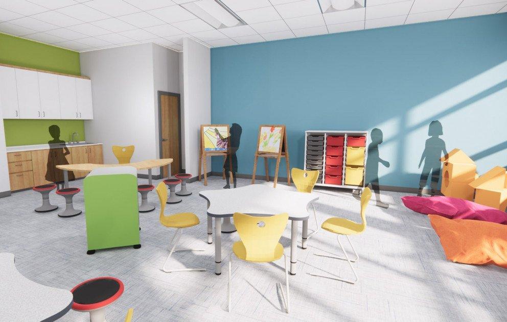 Kindergarten Classroom Study Area