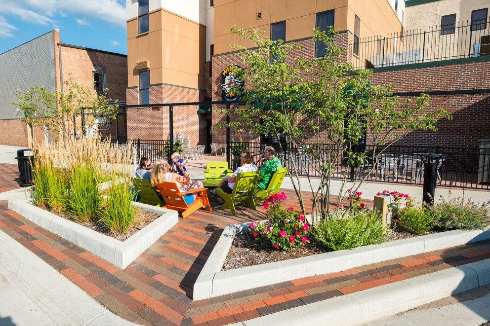 Moso Village outdoor seating patio