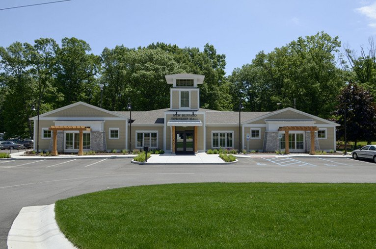 New Buffalo Township Hall exterior day view