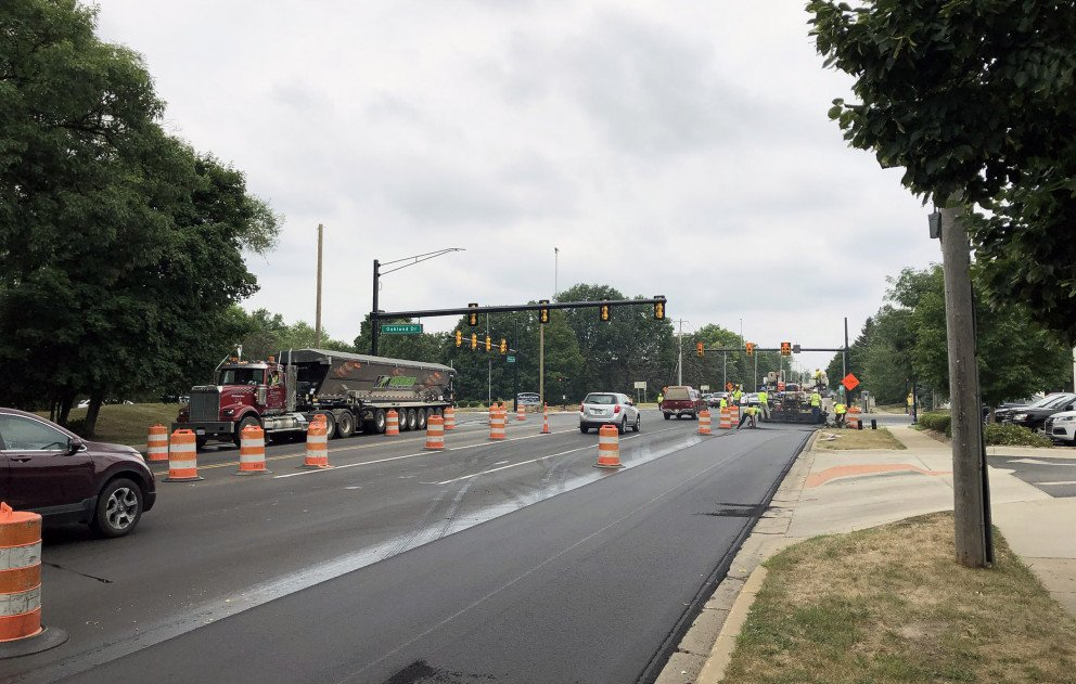 Milham Ave Paving Westbound at Oakland