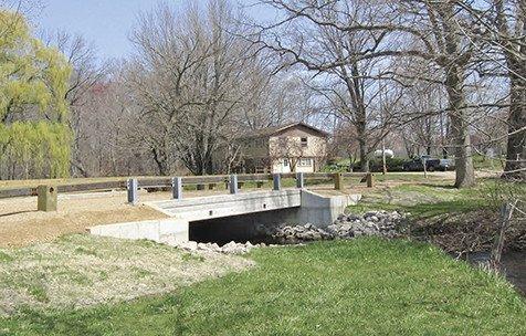 Edwards Street Bridge over Peavine Creek