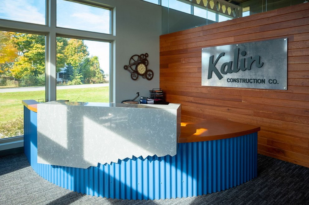 Kalin Construction Reception Area