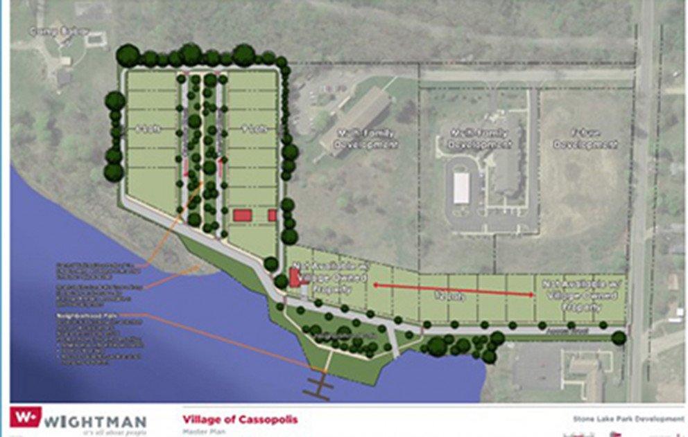 Cassopolis Stone Lake neighborhood site plan