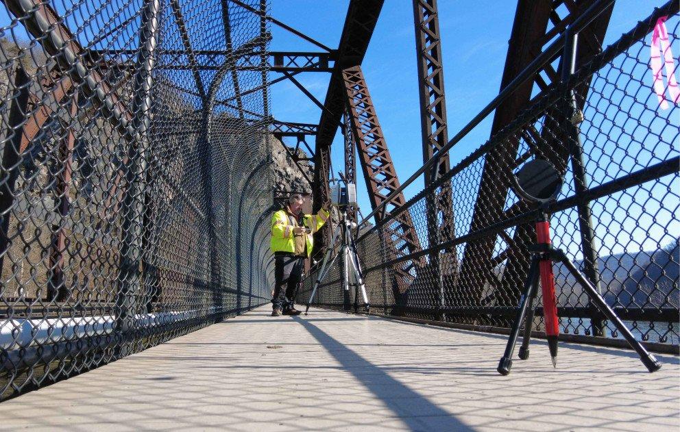 Wightman Staff Monitoring Equipment on Byron Bridge