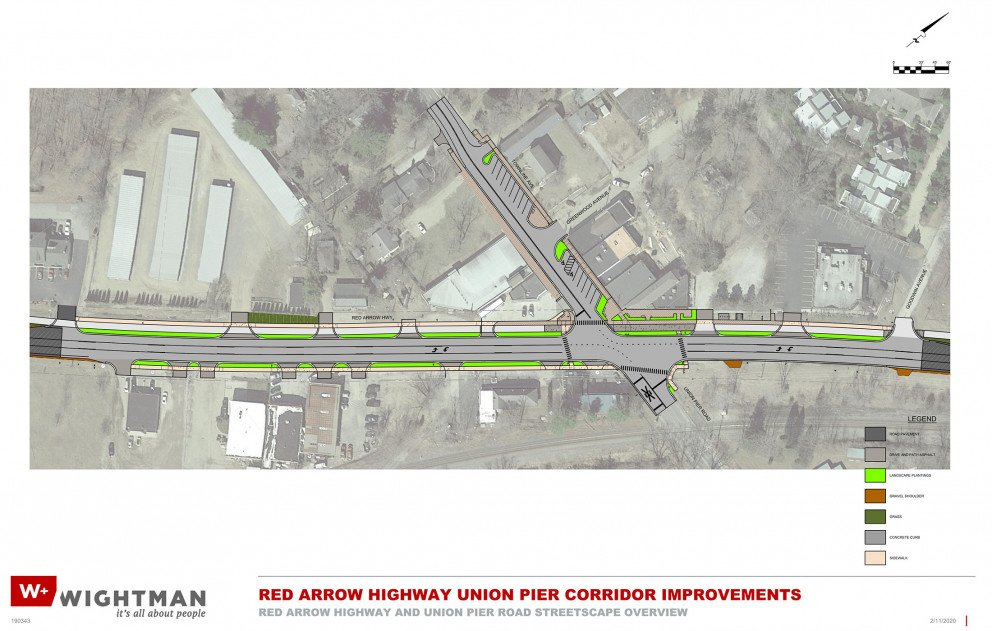Red Arrow Highway Streetscape Overview Rendering