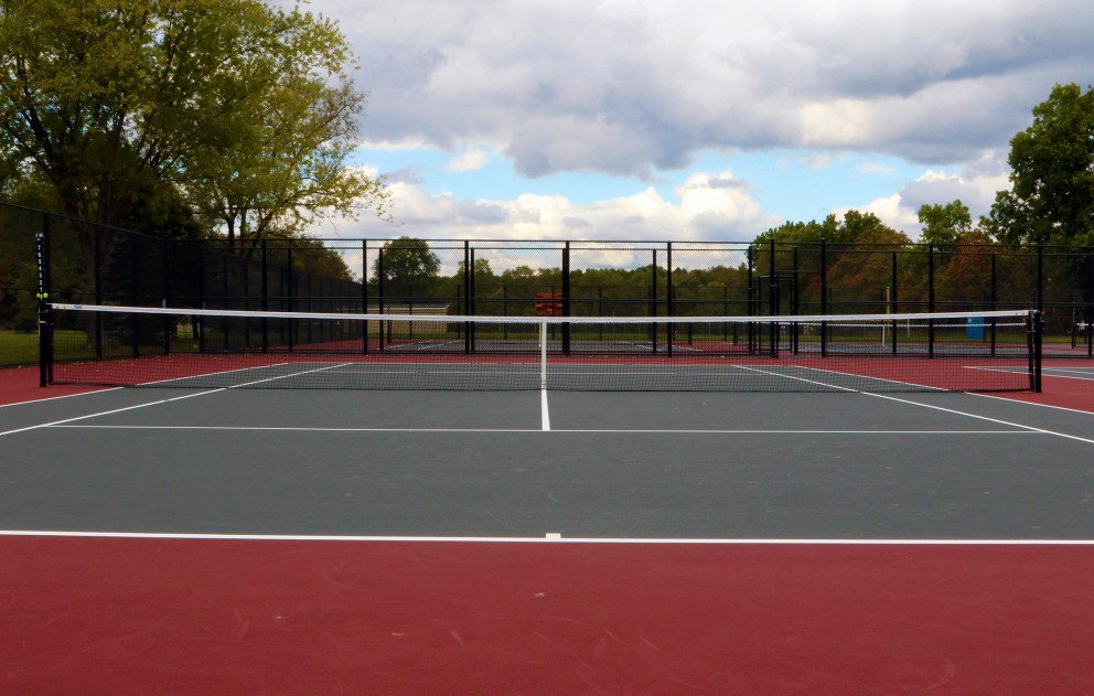 Brandywine Tennis Court Wide Center Court View