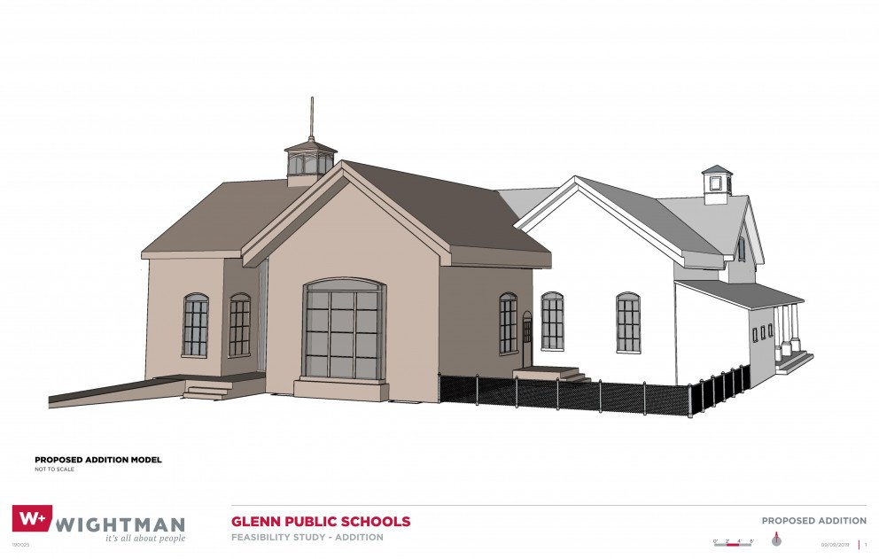 Glenn Public Schools Addition Rendering