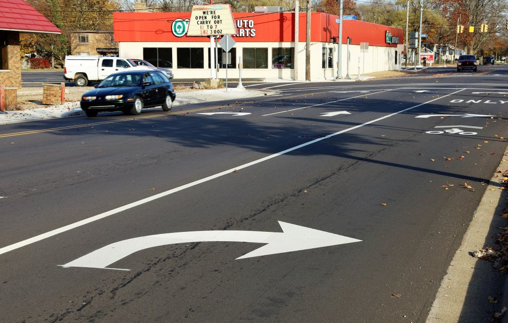 Cork St right turn lane